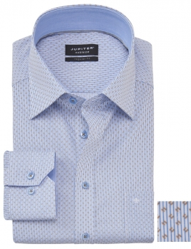 Chemise Print sans repassage regular fit