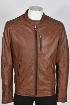 blouson cuir mouton agency tabacco